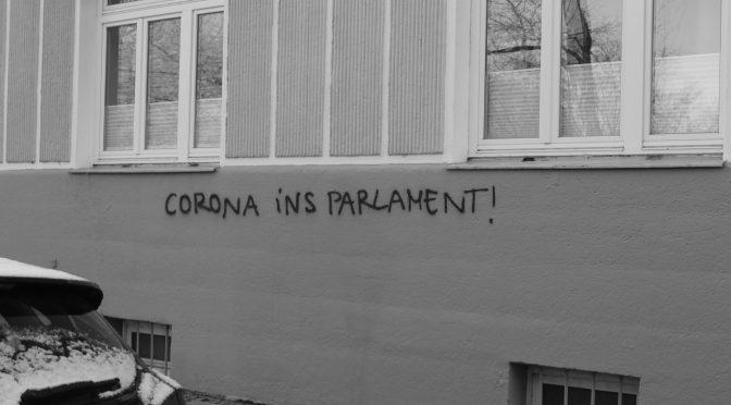 Widerstand gegen Corona im Münchner Stadtbild